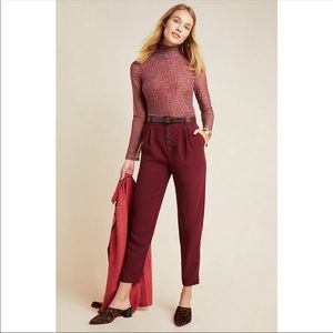 ANTHROPOLOGIE SASHA BUTTON-FLY TAPERED TROUSERS
